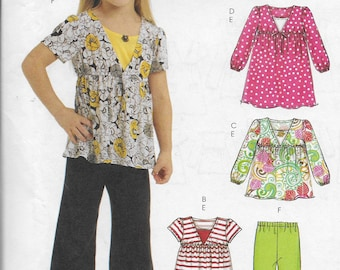 McCalls M5794 Girls 4 Geat  Looks One Easy Pattern Sizes 6, 7, 8  Gjilrs Tops Tunics Dresses Tank Top  Pants Casual Separates Pull On Over