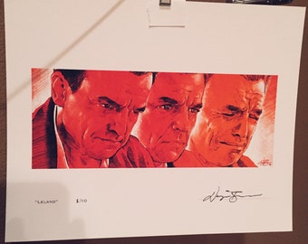 LELAND by Wayne Barnes Twin Peaks signed and numbered limited edition print 8x10 leland Palmer 1 of 10