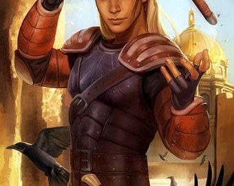 Dragon Age Origins Zevran Arainai Open Edition Art Print 11x17 inch