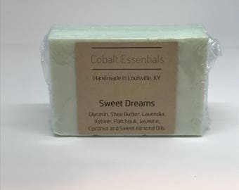 Sweet Dreams- Hydrating Soap- Essential Oil Soap- Handmade Soap - Shea Butter Soap - Natural Soap - Lavender - Vetiver - Pathcouli - Jasmine
