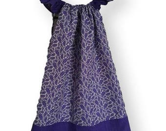 Purple Leaf Flutter Dress (Size 5-6)