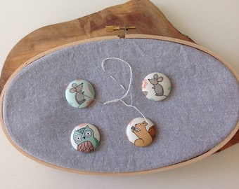 Magnetic needle minder   embroidery   sewing notion   stitching accessory   gift for her   birthday gift