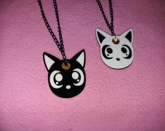 Moon cat/neko inspired necklace | harajuku anime lolita kawaii cute fashion