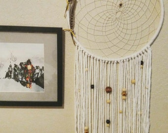 White Dreamcatcher with Retro Beads