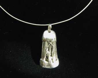 Fine Silver Pendant On sterling Wire