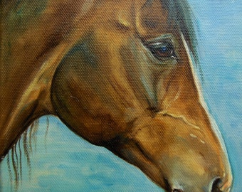 Custom HORSE PORTRAIT from photos Large Original oil PAINTING Personalized mamorial Fine Art Animal Art Painting on request Oil on canvas