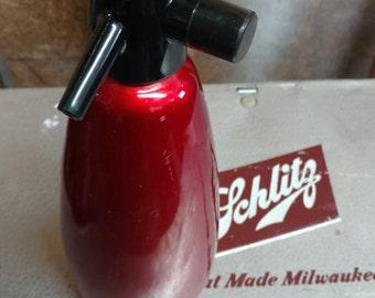 Vintage Ruby Red Seltzer Bottle
