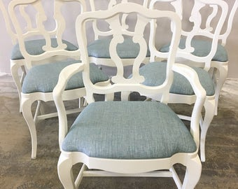 AVAILABLE: Set of Six Dining Chairs