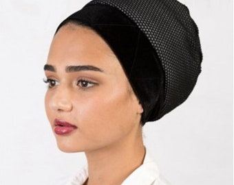 Lightweight MESH Turban Volumizer for Summer, Tichel Volumizer, Black or White, FREE shipping to US