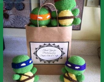 Ninja Turtle Amigurumi Crochet PATTERN ONLY