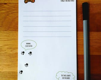 Dog To Do Notepad - Shopping List - Notepad