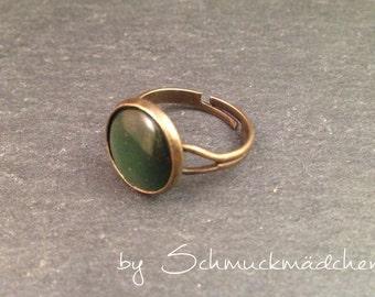 Ring bronze green