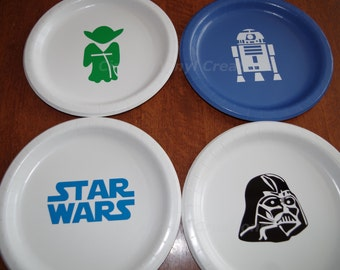 Party Packages of Star Wars Party Plates! As low as One Doller per plate! & Star wars plates | Etsy