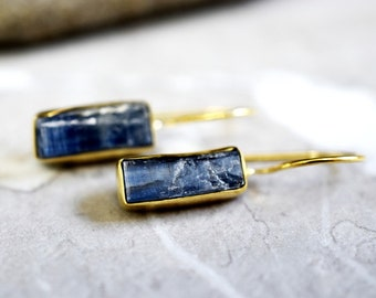 925 sterling/18k gold plated earrings Kyanite