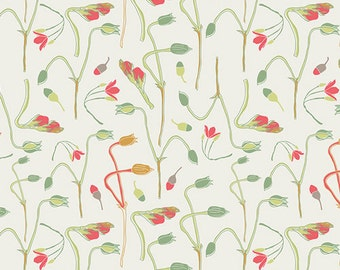 1/2 yd SALE REMINISCE Sprouts of Joy by Bonnie Christine for Art Gallery Fabrics RMS 2503 Ivy