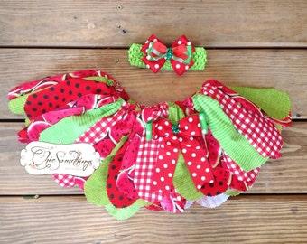 watermelon tutu, fabric tutu, watermelon birthday tutu, watermelon birthday outfit, summer watermelon cake smash, red watermelon tutu 020
