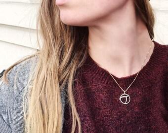Atheist symbol Invisible Pink Unicorn pendant, solid 14 Karat Gold