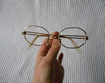 Glass Frames West German 12 carat Gold Plate Vintage  Glasses
