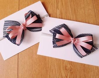 Baby girl headbands/ nylon headbands/ bow headbands/ baby headbands/ newborn headbands