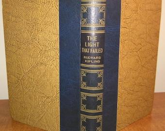 1930 Rudyard Kipling The Light that Failed Vintage Book