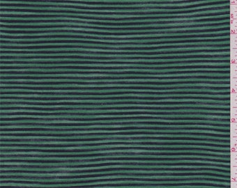 Emerald/Navy Stripe Tissue Weight Sweater Knit, Fabric By The Yard
