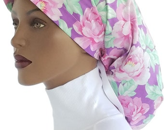 Worthy Locks Snood™ Cotton Floral Print Dreadlock Snood African Scarf Sleep Snood Hair Snood Workout Snood Hair Covering