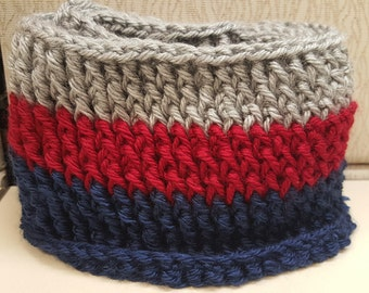 Multicolored Ribbed Cowl, Crochet cowl, Neck warmer, Crochet Cowl, Handmade, Children's Cowl, Kids Cowl