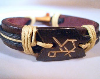 Lucky leather fortune bracelet jewelry