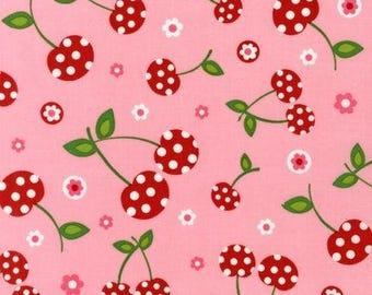 Picnic Party Cherries in Petal 1 Yard Cut