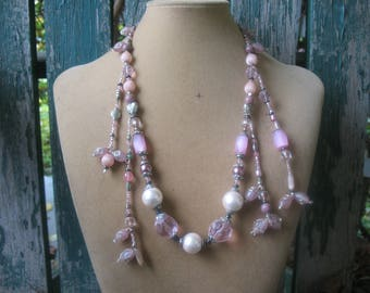 Abstract Gorgeous Pink Necklace
