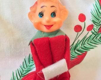 Vintage Christmas Knee Hugger Elf Japan