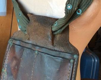 TOOLBELT FANNYPACK VINTAGE leather bag, carpenter tote, hipster wear, festival fashion
