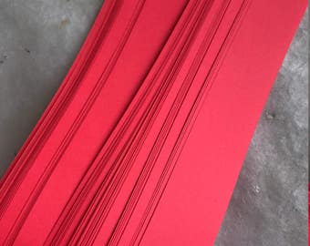 Bright Light Red~ Moravian German Froebel Star Paper (52 strips)