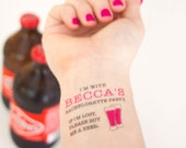 Bachelorette Temporary Tattoo, Beer Tattoo, If I'm Lost, Buy Me a Beer, Bachelorette Tattoo, Custom Tattoo, Personalized Tattoo, Beer Party