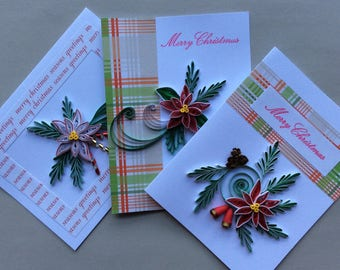 Quilled Merry Christmas and Seasons Greeting Cards
