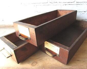 ONE Wooden Drawer Vintage Wedding Seating Chart Holder Wooden Storage Bin