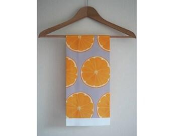 Handmade Cotton Orange Slice Tea Towel