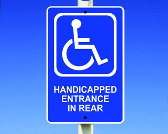 Handicap Aluminum Sign