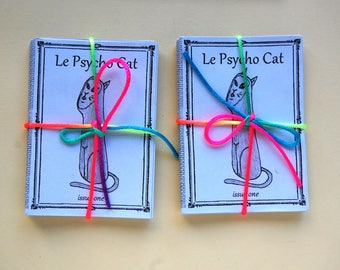 Cat Art Zine, Le Psycho Cat, 5 issue bundle