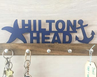 Beach House Personalized Key Holder