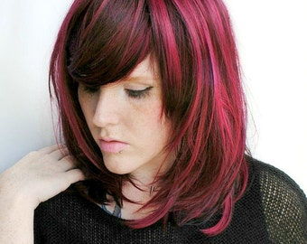 Red wig, scene wig, cosplay wig // Red Auburn Black wig Hair // Scene Punk // Cherry Pie