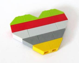Geeks in Love Gift-Fridge Magnet-Heart Shape Magnet-Decorative Magnet-Refrigerator Magnets-Anniversary Geeks-Geeks Gift-Building Blocks Love