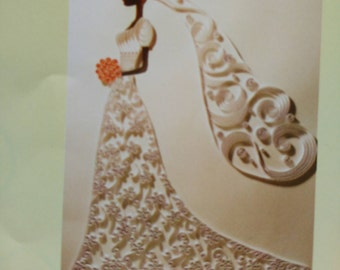 listing for quilling pattern paperole bride, wedding dress, wedding
