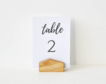 5 Table Number holders/ Wooden Card Holders / Table menu Stands / Reception / Wedding / Event / Sign holders / Restaurant menu holders