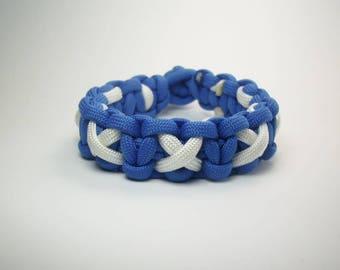 Custom Survival Paracord Bracelet with XOXO Weave, Men's EDC Wristband, Boy's 550 Paracord Jewelry,