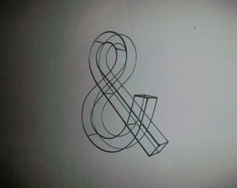 Ampersand Topiary Wire Frame