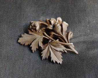 Beautiful antique flower brooch. Made of gutta percha