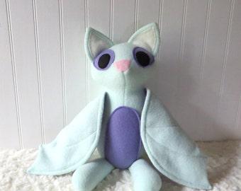 Mint Bat Plush, Bat Toy, Stuffed Bat