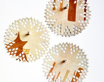 Woodsy Paper Doilies {6.0in} OOAK   Fun Paper Doilies   Scrapbooking   Paper Doily Giftwrap   Forest Tan Gift Wrap   Embellishments
