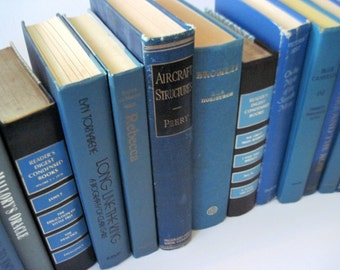 Wedding Book Decor, Blue Books, Wedding Trend, Beach Wedding Decor, Books for Decor,  Book Lovers Party, Blue Book Decor, Photo Prop, Blue